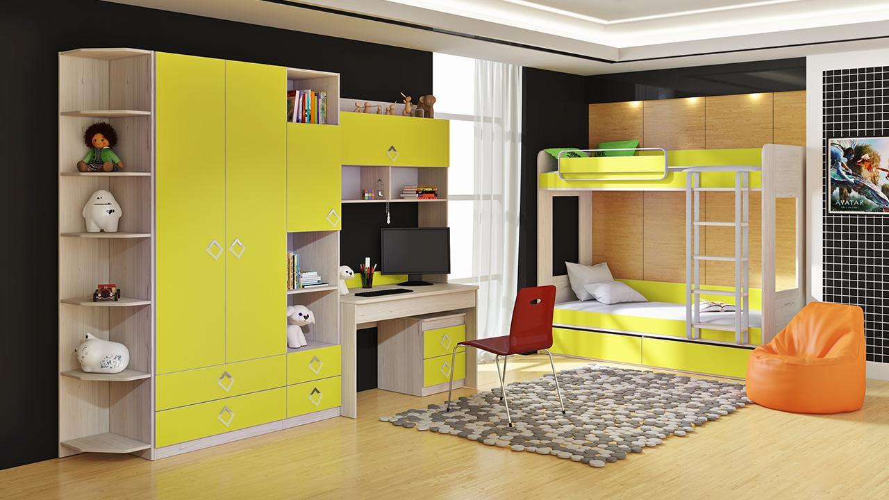 Мебель для детской комнаты детская мебель триЯ аватар лайм в.