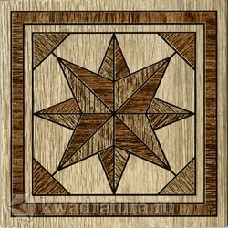 Декор для напольной плитки InterCerama MASSIMA коричневый 13,7*13,7 см