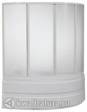Шторка для ванны Бас Алегрa  (стекло Грейп/Шиншила)