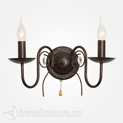 Настенный светильник (Бра) Eurosvet Tomas 60018/2 чёрный с золотом