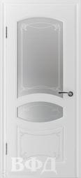 Межкомнатная дверь ВФД Версаль Белый, стекло