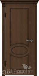Межкомнатная дверь ВФД GL PREMIER 11 дуб коньяк патина тёмно-коричневая