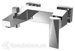 Cмеситель для ванны с коротким изливом и душевым гарнитуром BRAVAT ICEBERG F676110C-B-RUS