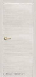 Дверь межкомнатная Сибирь Профиль L 2000 с алюминиевой кромкой ясень снежный