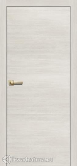 Дверь межкомнатная Сибирь Профиль L 2000 с алюминиевой кромкой ясень латте