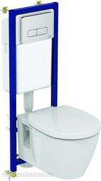 Система инсталляции Ideal Standard W3710AA с унитазом Connect E803501 с сиденьем
