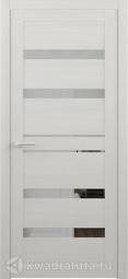 Межкомнатная дверь Фрегат (ALBERO) Дрезден кипарис белый ЗЕРКАЛО