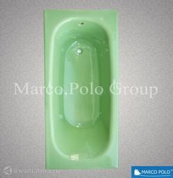Чугунная ванна MARCO POLO 150*70 с ножками Природный зеленый