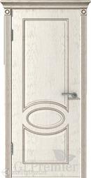 Межкомнатная дверь ВФД GL PREMIER 11 слоновая кость патина капучино