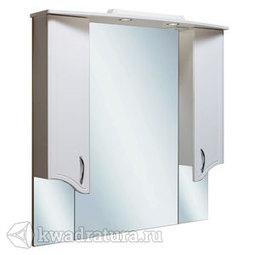 Шкаф зеркальный навесной Руно Севилья 105 белый
