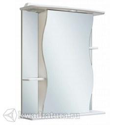 Шкаф зеркальный навесной Руно Лилия 55 правый белый