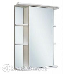 Шкаф зеркальный навесной Руно Гиро 55 правый белый