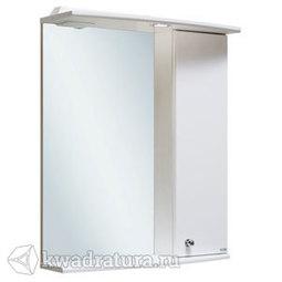 Шкаф зеркальный навесной Руно Ирис 55 левый белый