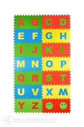 Мягкий пол ЭкоПром Английский Алфавит 25*25 см (32 дет.)