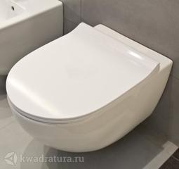 Унитаз подвесной Vitra SENTO Rim-ex, сиденье тонкое, дюропласт, микролифт 7748В003-0075,120-003-009