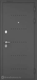 Дверь входная металлическая Бульдорс Mass 90 CR-3 Букле графит / Ларче бьянко (Белый лакобель)