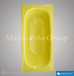 Чугунная ванна MARCO POLO 150*70 с ножками Лимонная