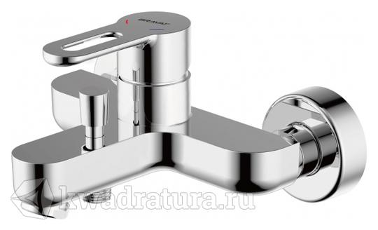 Смеситель для ванны с коротким изливом и душевым гарнитуром BRAVAT STREAM-D F637163C-B
