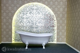 Каменная ванна Bristol Эдельвейс 170*82,7 белая с белыми ножками
