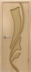 Межкомнатная дверь ВФД 5ДО1 Лилия Светлый дуб