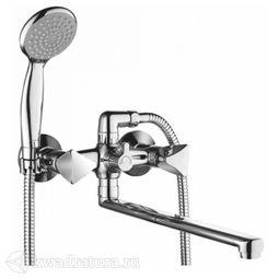 Смеситель для ванны Gross Trio 7016029С-35L(F)-H длинный излив