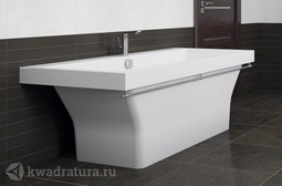 Каменная ванна Bristol Крит 180*80 с хромированным полотенцедержателем