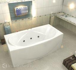 Акриловая ванна Bas Фиеста 194*90 БЕЗ ГИДРОМАССАЖА