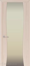 Межкомнатная дверь Океан Буревестник-2 ясень капучино с/о белое