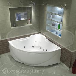 Акриловая ванна Бас Ирис 150*150 БЕЗ ГИДРОМАССАЖА