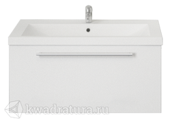 Тумба 1Marka Соната 75П 1 выдвижными ящиками Белый глянец с раковиной