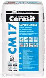 Клей для плитки высокоэластичный Ceresit CM17 (25 кг.)