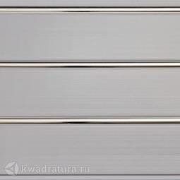 Потолочная панель 3-х секционная Люкс Серебро