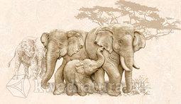 Декор для настенной плитки InterCerama Safari коричневый 23*40 см