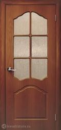 Дверь межкомнатная Дубрава Илона ПО итальянский орех