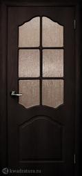 Дверь межкомнатная Дубрава Илона ПО венге