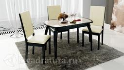 Обеденный стол раздвижной на деревянных ножках Ницца Т15 вариант 2 ТР