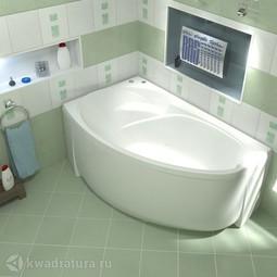 Акриловая ванна Бас Флорида 160*88 БЕЗ ГИДРОМАССАЖА левая/правая