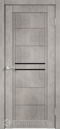 Межкомнатная дверь Velldoris (Веллдорис) NEXT 2 муар светло-серый, лакобель черное