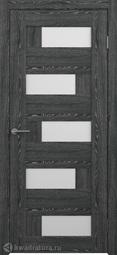 Межкомнатная дверь Фрегат (ALBERO) Гаванна черное дерево с/о белое