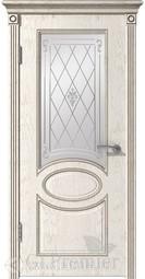 Межкомнатная дверь ВФД GL PREMIER 12 слоновая кость патина капучино