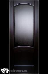 Межкомнатная дверь Луидор Криста Лайт тонированный черный дуб