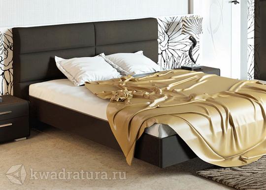 Двуспальная кровать «Наоми» с мягким изголовьем (Фон серый, Джут) без матраса ТР