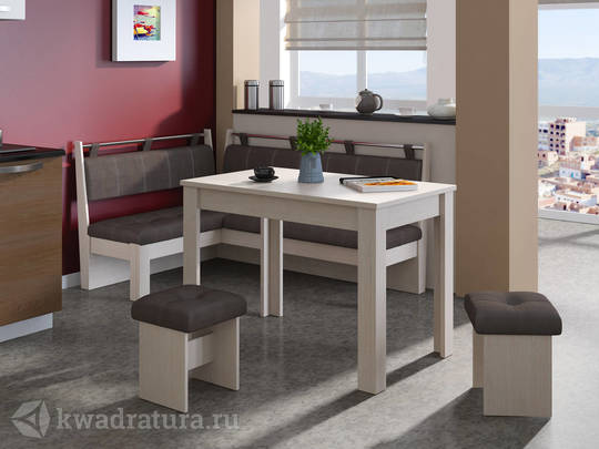Кухонный уголок Омега Дуб белфорт/Лён коричневый ТР