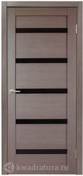 Дверь межкомнатная Дера Style Lite Стиль 5 Дуб серый стекло черное