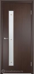 Финская дверь Олови Венге без притвора с фурнитурой со стеклом