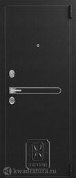 Дверь входная металлическая Легион L-3 черный блеск/лиственница светлая