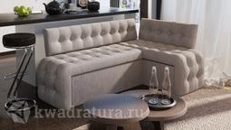 Скамья угловая со спальным местом Манчестер Дуб Сонома трюфель/Кожзам серый