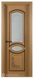 Межкомнатная дверь Крона Муза Дуб СТ (2 с/о)