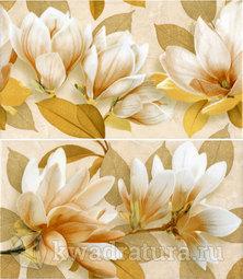 Панно для настенной плитки InterCeramaSafari коричневое Цветы 46*40 см