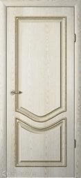 Межкомнатная дверь Фрегат (ALBERO) Ренессанс Рафаэль ПГ Ясень-Голд Патина шампань